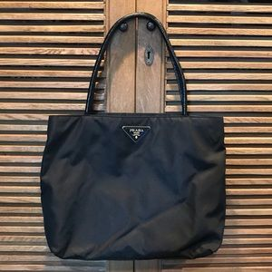 Prada Black Nylon Tote Bag/Shoulder Bag